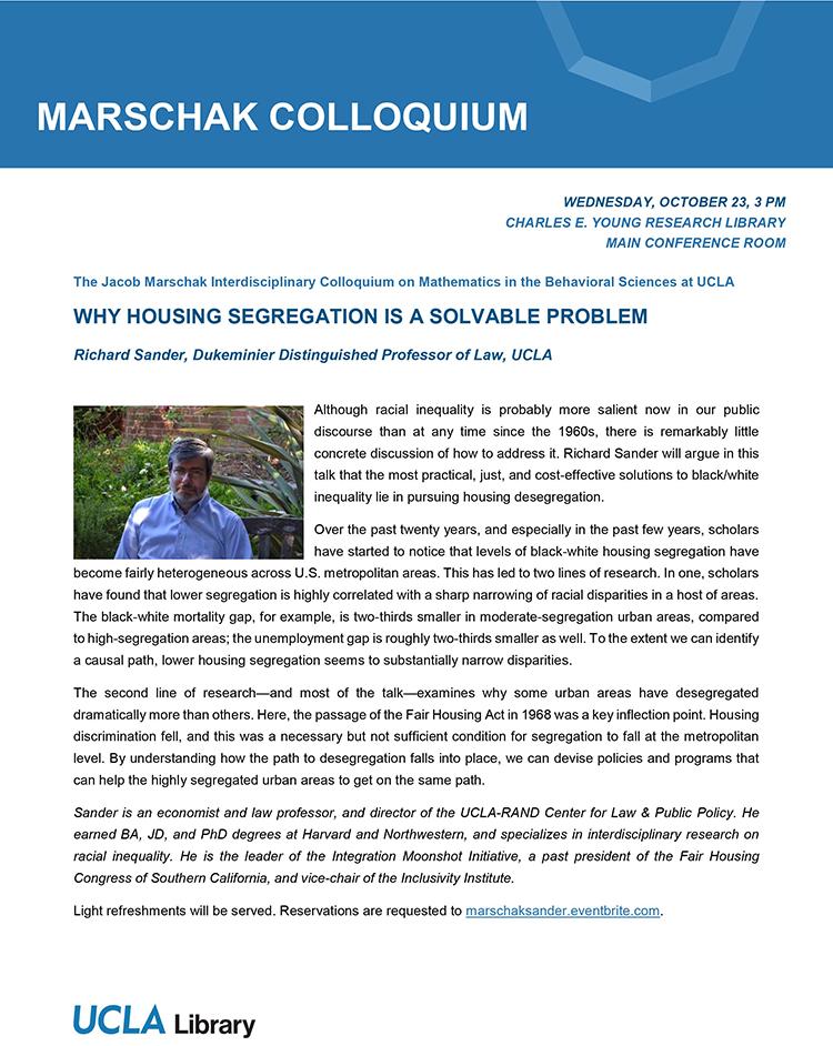2019 Jacob Marschak Colloquium